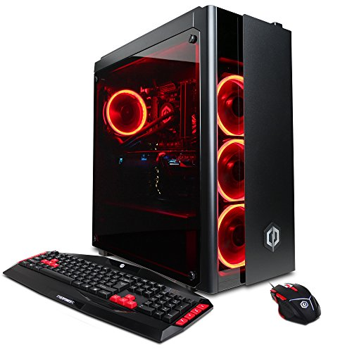 CYBERPOWERPC Gamer Xtreme VR GXiVR8080A2 w/Liquid Cooled Overclockable Intel i7-8700K 3.7GHz CPU, 16GB DDR4, NVIDIA GTX 1080 Ti 11GB,