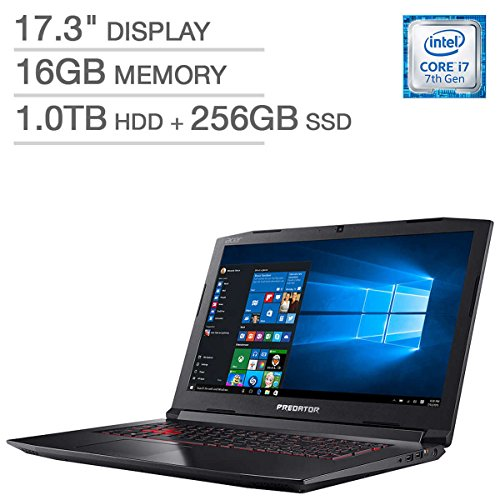 Acer Predator Helios 300 Gaming Laptop: Core i7-7700HQ, GeForce GTX 1060 6GB, 17.3″ Full HD,