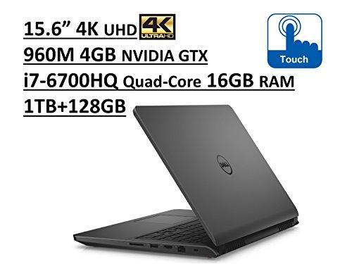 Dell Inspiron 7000 i7559 15.6″ UHD (3840×2160) 4K TouchScreen Gaming Laptop: Intel Quad-Core i7-6700HQ | 16GB RAM | NVIDIA GTX 960M 4GB | 1TB + 128GB SSD | Backlit Keyboard | Windows 10 –