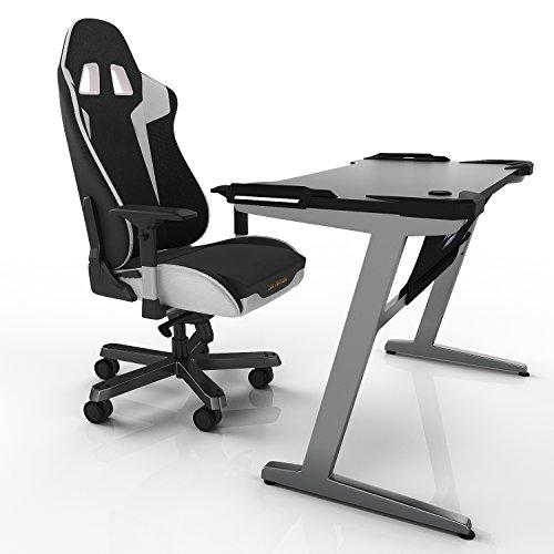 Modrine Gaming Desk gaming desktop Ergonomic Table-Black
