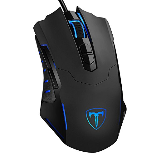 Pictek Gaming Mouse Wired [7200 DPI] [Programmable] [Breathing Light] Ergonomic Game USB Computer Mice RGB Gamer PC Laptop Gaming Mouse,