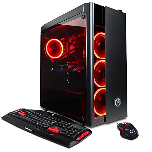 CYBERPOWERPC Gamer Xtreme VR GXiVR8200A Gaming PC (Liquid Coolded Intel i7-8700K 3.7GHz, 16GB DDR4, NVIDIA GeForce GTX 1070 8GB,