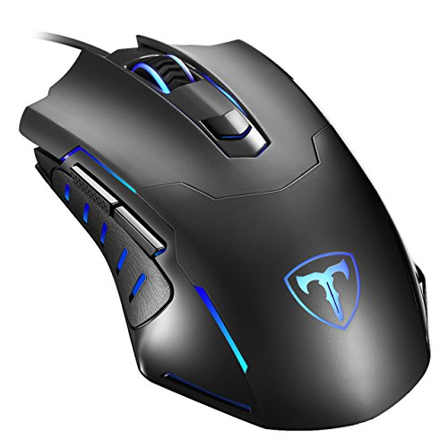 Gaming Mouse Wired, Pictek 6 Buttons Ergonomic Optical USB Mouse PC Laptop Computer Gaming Mice [2400DPI Adjustable] [Auto Breathing Light] for Windows 7/8/10/XP Vista Mac Macbook Linux,