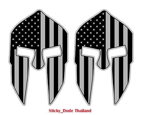 2 (two) pcs – Spartan Helmet Gaming Desktop Stickers | PC Decals Laptop Notebook Computer Cases | Hard Hats,