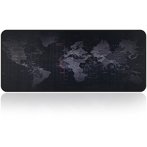 Large Gaming Mouse Map Pad With Nonslip Base Extended XXL Size, Heavy Thick, Comfy, Waterproof & Foldable Mat For Desktop,
