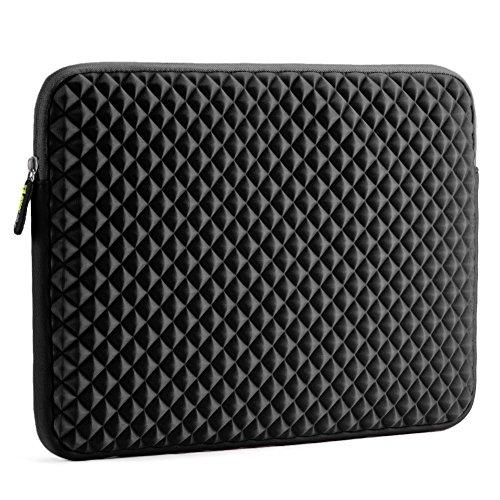 Laptop Sleeve, Evecase 15~15.6 inch Diamond Foam Splash & Shock Resistant Neoprene Universal Sleeve Zipper Case Bag for ASUS ACER HP LENOVO DELL TOSHIBA SAMSUNG Chromebook Ultrabook Notebook –