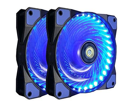 120mm PC Case Cooling Fan,CONISY Gaming 120 mm Super Silent Computer LED Cooler High Airflow Fans for Desktops –