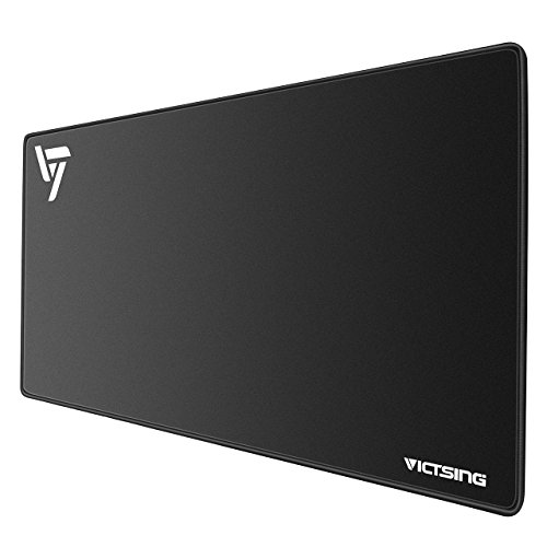 VicTsing Extended Gaming Mouse Pad, Thick Large (31.5×15.75×0.12 inch) Computer Keyboard Mousepad Mouse Mat, Water-Resistant,