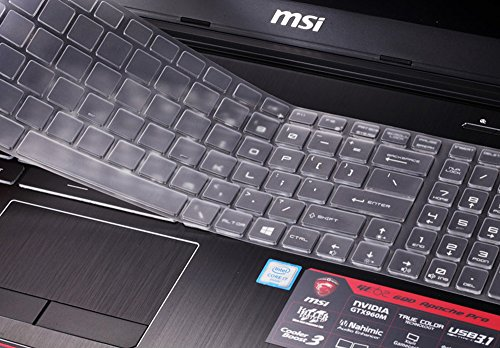 for MSI Gaming Laptop Keyboard Cover for 15.6 inch MSI GL62M GT62VR GF62VR GE63VR GS63 GS63VR GP62,