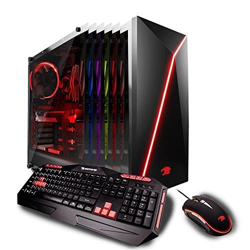 iBUYPOWER Gaming Elite Desktop PC AM8470i Intel i7-8700 3.20GHz, AMD Radeon RX 580 4GB, 16GB DDR4 RAM,