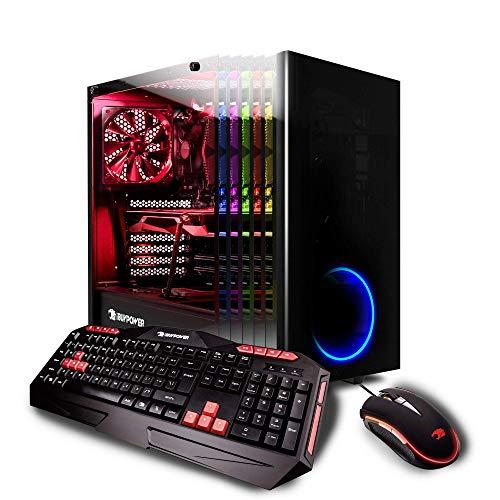 iBUYPOWER Elite Desktop Gaming PC AMD Ryzen 7 1800X, AMD Radeon RX 580 4GB, 8GB DDR4 RAM,