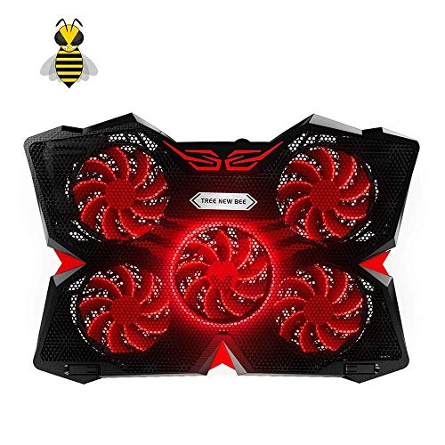 Tree New Bee 15.6″-17″ Laptop Cooling Pad Cooler,Gaming Laptop Cooling Pad with Five 120mm Fans at 1200rpm,