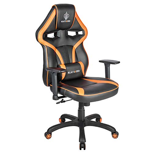 BLUE SWORD Oversized Racing Gaming Chair High Back Ergonomic Swivel Computer Chairs Executive Office Chair with Lumbar Support