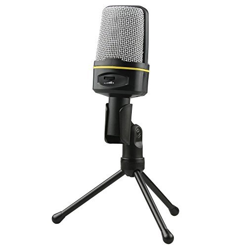 FOME Condenser Sound Studio Recording Microphone Mic w/ Stand SF-920 for PC Laptop Gaming Skype MSN