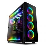 anidees AI Crystal XL RGB V2 Full Tower Tempered Glass XL-ATX/E-ATX/ATX PC Gaming Case Support 480/360 Radiator,