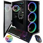 CUK Stratos Micro Gaming Desktop (Liquid Cooled Intel i7-9700K, 32GB DDR4 RAM, 1TB NVMe SSD + 2TB HDD,