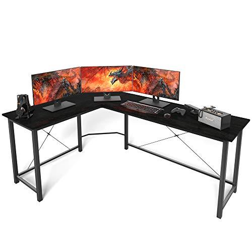L Shaped Desk Home Office Desk Corner Computer Desk Sturdy Computer Table Writing Desk Gaming Desk Workstation,