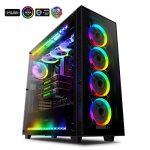 Anidees AI Crystal XL RGB V3 Full Tower Tempered Glass XL-ATX/E-ATX/ATX PC Gaming Case Support 480/360 Radiator,