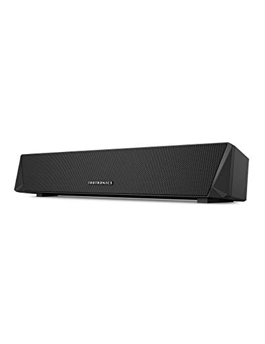 TaoTronics Gaming Computer Speaker, Dual Powerful 7W Drivers PC Soundbar, Colorful RGB Light, Wireless Bluetooth 5.0 or 3.5mm Aux-in Connection,
