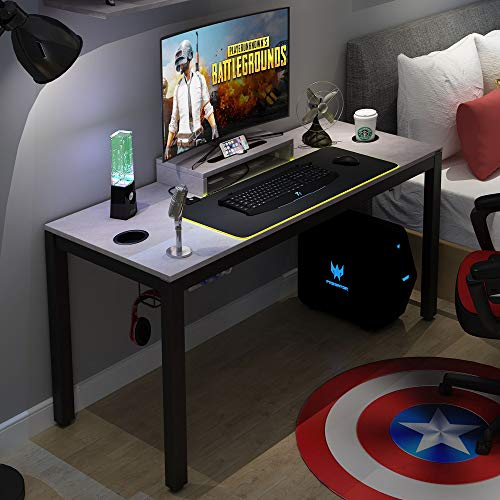 Need Gaming Desk All-in-one Gaming Computer Desk with RGB LED Soft Gaming Mouse Pad 60″