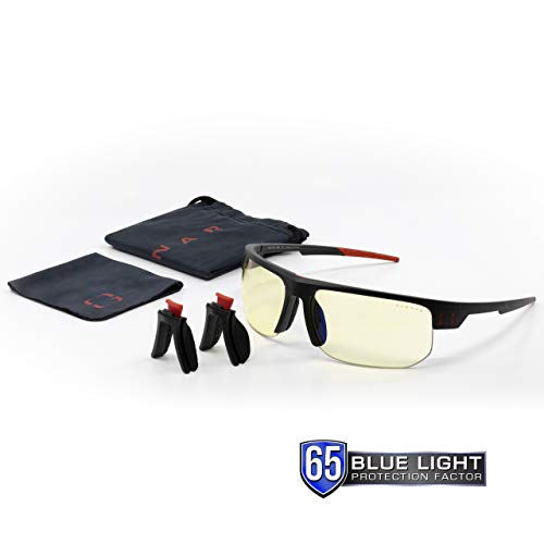 GUNNAR Gaming and Computer Eyewear /Torpedo Fit, Amber Tint – Patented Lens, Reduce Digital Eye Strain,