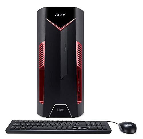 Acer Nitro 50 N50-600-NESelecti7RX580 Desktop, 8th Gen Intel Core i7-8700, AMD Radeon RX 580 Graphics,