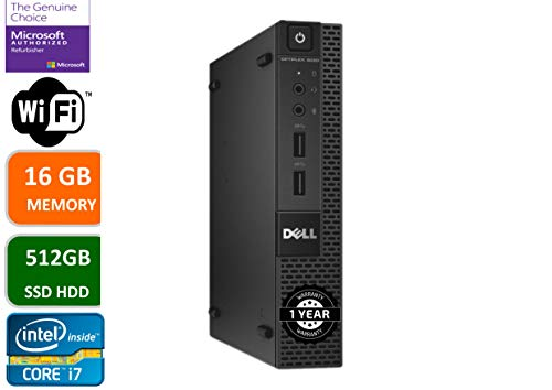 Dell Optiplex 9020 Ultra Small Tiny Desktop Micro Computer PC (Intel Core i7-4770S, 16GB Ram,