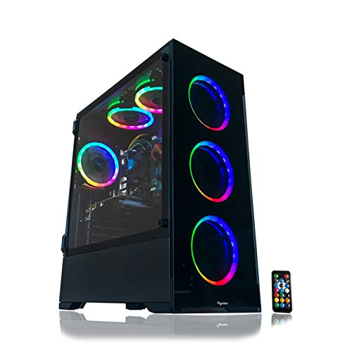 Gaming PC Desktop Computer Intel i5 3.10GHz,8GB Ram,1TB Tense Force,Dwelling windows 10 pro,WiFi Prepared,Video Card Nvidia GTX 650 1GB, 6 RGB Fans with Distant