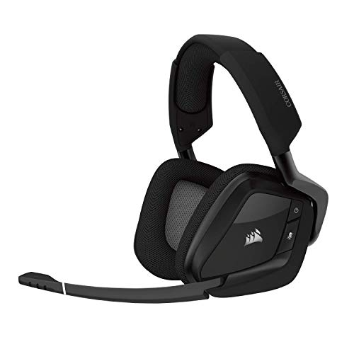 Corsair Void Educated RGB Wi-fi Gaming Headset – Dolby 7.1 Surround Sound Headphones for PC – Discord Certified – 50mm Drivers – Carbon