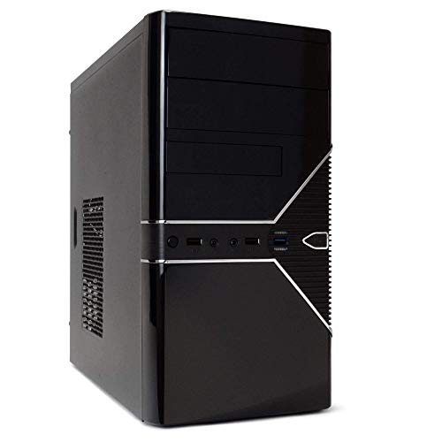 Periphio 560 Gaming PC Desktop Computer, Intel Quad Core i5 3.2GHz CPU, AMD Radeon RX 560 4GB DDR5 Graphics Card, 8GB RAM, 128GB SSD + 500GB HDD,