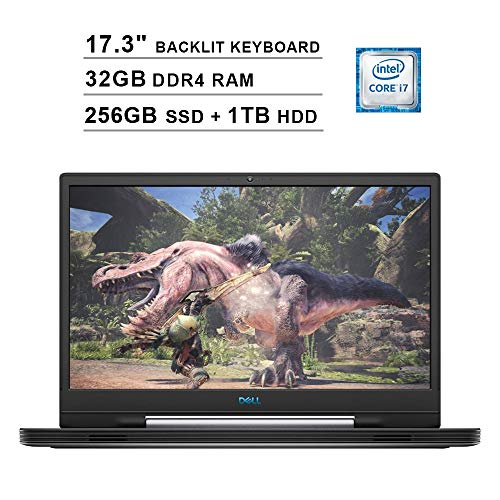 2020 Dell G7 17 7790 17.3 Rush FHD Gaming Notebook computer (9th Gen Intel 6-Core i7-9750H as much as 4.50 GHz, 32GB DDR4 RAM, 256GB SSD + 1TB HDD,