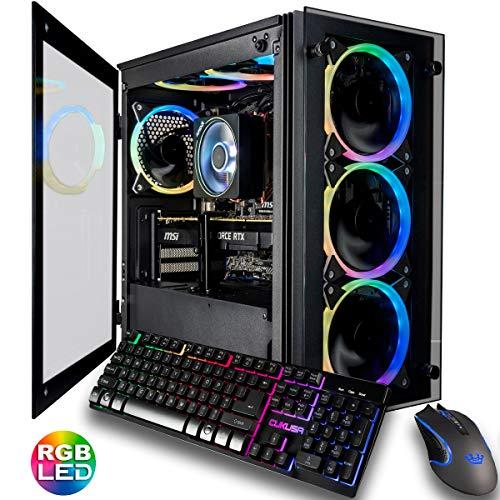 CUK Stratos Micro Gaming Desktop PC (AMD Ryzen 7 3700X, NVIDIA GeForce RTX 2080 Fat 8GB, 32GB DDR4 3200 RAM, 1TB NVMe SSD + 2TB HDD,