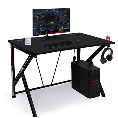 45.66″ Gaming Desk, E-Sports Laptop Desk Desk with Spacious Dimension Ergonomic Floor and Heavy Obligation Construction for Home or Office, Laptop Workstation