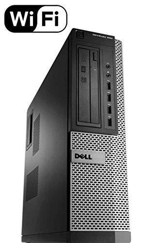Dell Optiplex 990 Desktop Computer (Intel Quad-Core i7-2600 up to about a.4GHz, 16GB RAM, 2TB HDD, DVD, WiFi, VGA, DisplayPort, Windows 10 Official) (i7 16GB 2TB) (Renewed)