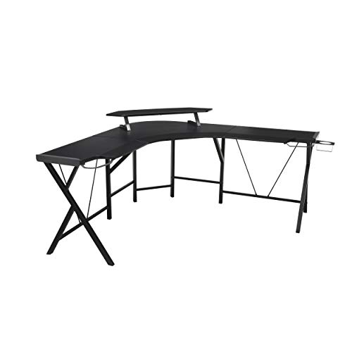 RESPAWN Gaming Computer Desk, L-Formed Desk, in Gray (RSP–GRY)