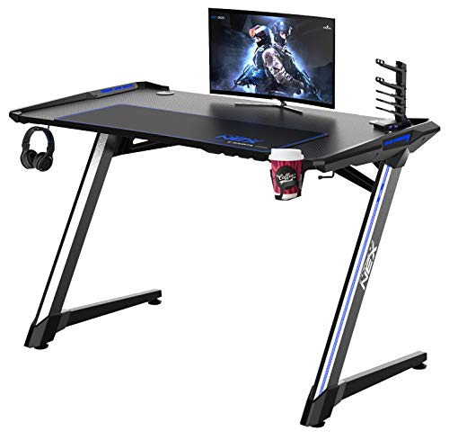 DX Racer DXRacer NEX Computer Gaming Desk, PC Desk, Residence Insist of enterprise Workstation with Cup Holder & Headphone Hook, 46.9 x 25.2 x 30.3 in,