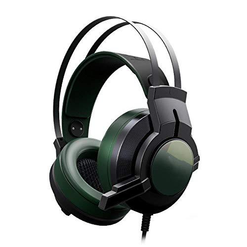 USB 7.1 Encompass Sound Vibration Game Gaming Headphone Computer Headset Earphone Headband with Microphone, A