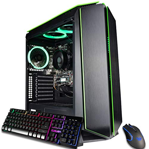 CUK Mantis Custom Gaming PC (AMD Ryzen 3 3200G, 16GB DDR4 RAM, 256GB NVMe SSD, 500W PSU, No OS) The Most productive Contemporary Tower Desktop Computer for Avid gamers