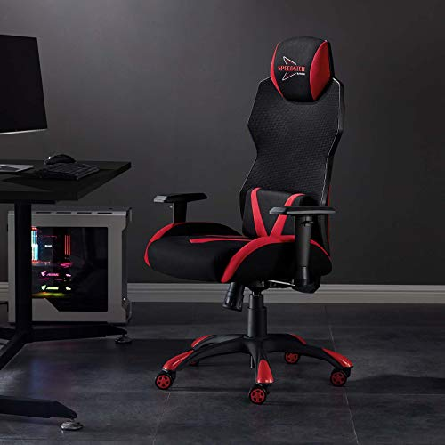 Modway Speedster Ergonomic Mesh Gaming Computer Desk Chair in Shaded Red