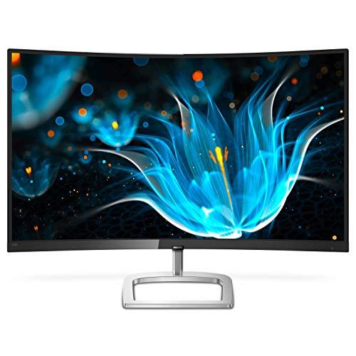 Philips Computer Monitors 328E9QJAB 32″ Bent Frameless Computer screen, Corpulent HD VA, 128% sRGB, FreeSync, 75Hz, VESA, 4Yr Advance Replacement Warranty, Unlit