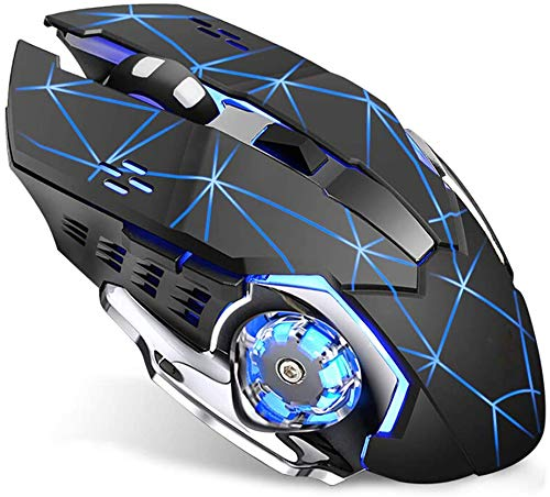 Wireless Gaming Mouse with Unheard of Quiet Click on, Breathing Backlight, 2 Facet Buttons, (2400, 1600, 1200, 800) DPI, Ergonomic Take care of, 6 Buttons,