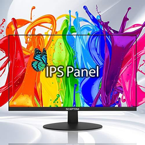 Sceptre 24-Fade IPS Enterprise Pc Video show 1080p 75Hz with HDMI VGA Get-in Speakers, Slim Machine Dusky 2020 (E248W-FPT)