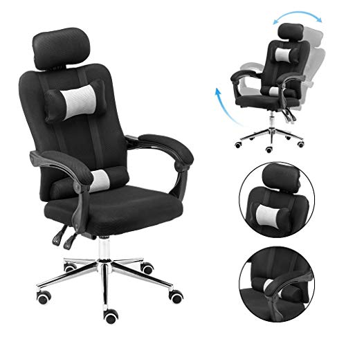 Gaming Chair Place of job Chair Excessive Back Computer Chair PU Leather Desk Chair PC Racing Government Ergonomic Adjustable Swivel Assignment Chair with Headrest and Lumbar Beef up (Gloomy)