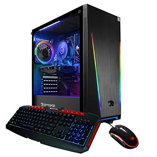 iBUYPOWER Gaming PC Computer Desktop 131A (AMD Ryzen 5 1600 3.2 GHz, AMD RX 550 2GB, 8GB DDR4 RAM, 240GB SSD, WiFi Prepared, Windows 10 Home)