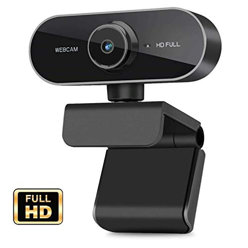 Webcam with Microphone, 1080P HD Webcam Streaming Pc Net Digicam -USB Broad Perspective Pc Digicam for Mac YouTube Skype OBS, Pc Desktop Webcam for Video Calling Gaming Recording Conferencing