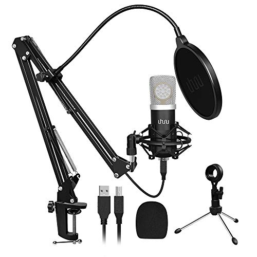 USB Microphone Gaming Laptop PC Microphone Equipment,UHURU Legitimate Streaming Microphone Equipment with 25mm Super Diaphragm 192kHZ/24bit Condenser Studio Cardioid Mic for YouTube Gaming Podcasting(UM-925)