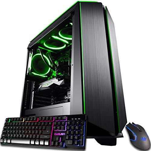 CUK Mantis Customized Gaming PC (Liquid Cooled Intel i7-9700KF, 32GB DDR4-2666 RAM, 1TB NVMe SSD + 2TB HDD, NVIDIA GeForce RTX 2080 Actually helpful, 700W,