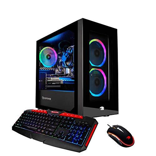 iBUYPOWER Professional Gaming PC Computer Desktop FHW002 (Intel i3 9100F 3.6GHz, NVIDIA GT 710 1GB, 8GB DDR4 RAM, 120GB SSD, 1TB HDD, WiFi Ready, Windows 10 Dwelling)
