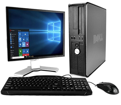 Dell Optiplex with 20-Trip Computer screen (Core 2 Duo 3.0Ghz, 8GB RAM, 1TB HDD, Home windows 10 Expert), Sunless (Renewed)