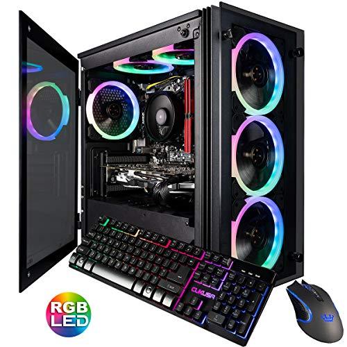 CUK Stratos Micro Gaming Desktop (AMD Ryzen 7 3700X, 32GB DDR4 RAM, 1TB NVMe SSD, NVIDIA GeForce RTX 2070 8GB, 600W Gold PSU, Home windows 10 Home) Video Modifying Gamer PC Computer